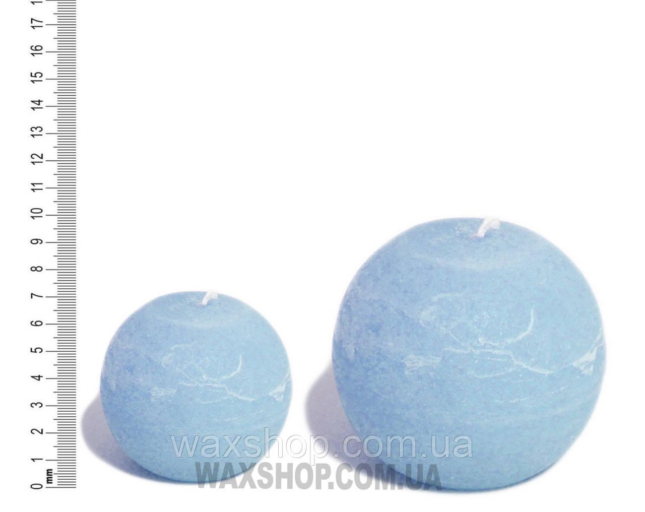 Свеча шар 7 см Голубой