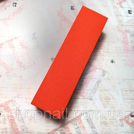 Баф для ногтей 4-х сторонний, оранжевый, фото 2