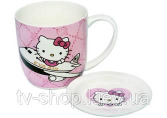 "Чашка с блюдцем ""HELLO KITTY"" (4 вида)"
