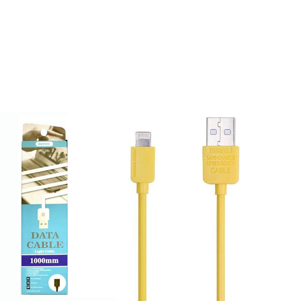 USB кабель Remax Light RC-006i Lightning 1m Black