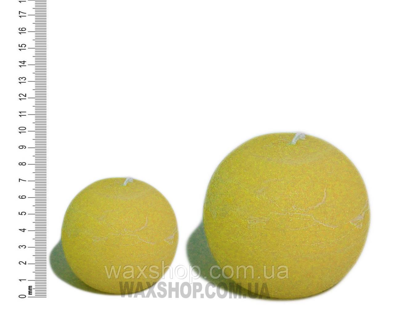 Свеча шар 7 см Желто-Оранжевый