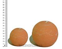 Свеча шар 10 см Желто-оранжевый, фото 1