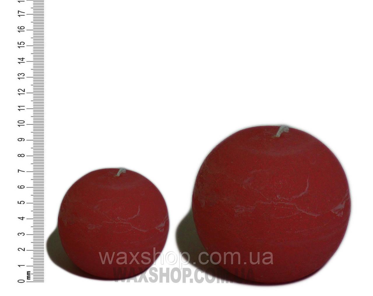 Свеча шар 10 см Красно-коричневый