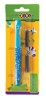 Ручка перова + 2 капсули, блакитний корпус, блістер