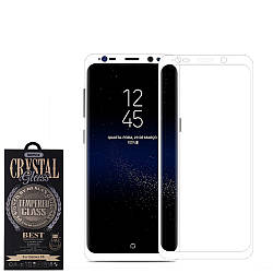 Защитное Стекло+чехол Remax 3D Curved Full Covered Glass for Samsung S8 White