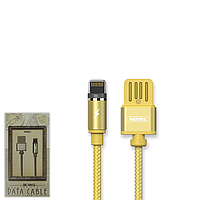 USB Data кабель Remax Tinned copper RC-095i Lightning 1m Gold