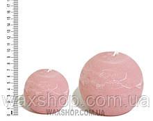 Свеча шар 7 см Розовый