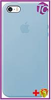 Чехол Apple iPhone SE/5S/5 Silicon Case (HC) - Light Blue