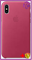Чехол Apple iPhone XS/X Leather Case (OEM) - Pink