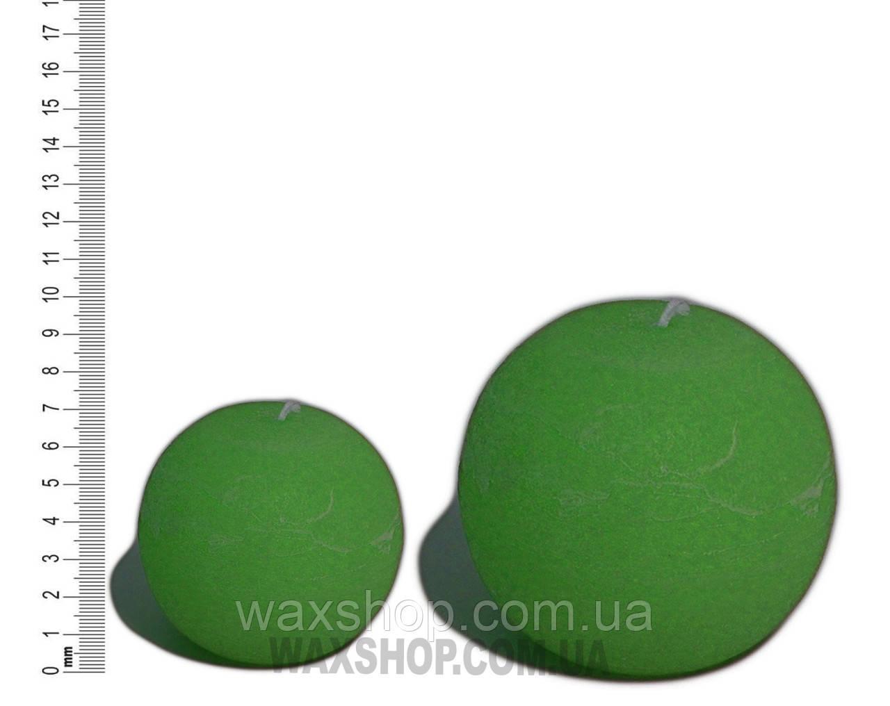 Свеча шар 10 см Изумрудно Зеленый