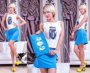 Женский модный костюм с сумочкой, фото 2