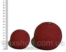 Свеча шар 7 см Красно-Коричневый