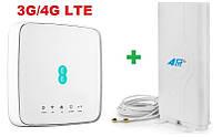 4G LTE Wi-Fi роутер Alcatel HH70VB + 4G LTE антенна MIMO 2×9 dbi SMA
