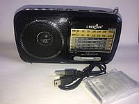Аналоговый радиоприемник RS-815UT c фонариком портативный приемник с антенной