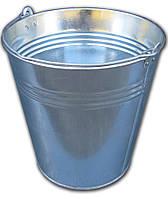 Ведро 15 литров оцинкованное одношовное (Метид, Днепр), фото 1