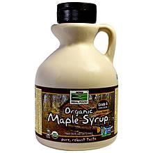 """Органический кленовый сироп NOW Foods """"Organic Maple Syrup"""" темный цвет, класс A (473 мл)"""