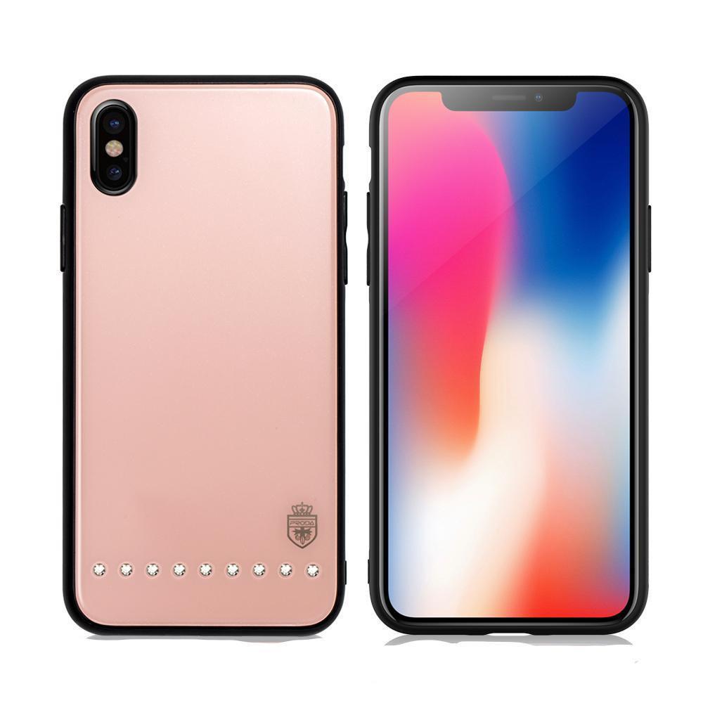 Чехол Remax Batili Series glass case for iPhone X Pink