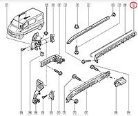 Направляющая сдвижной двери Рено Мастер 2, Опель Мовано (R) Новая