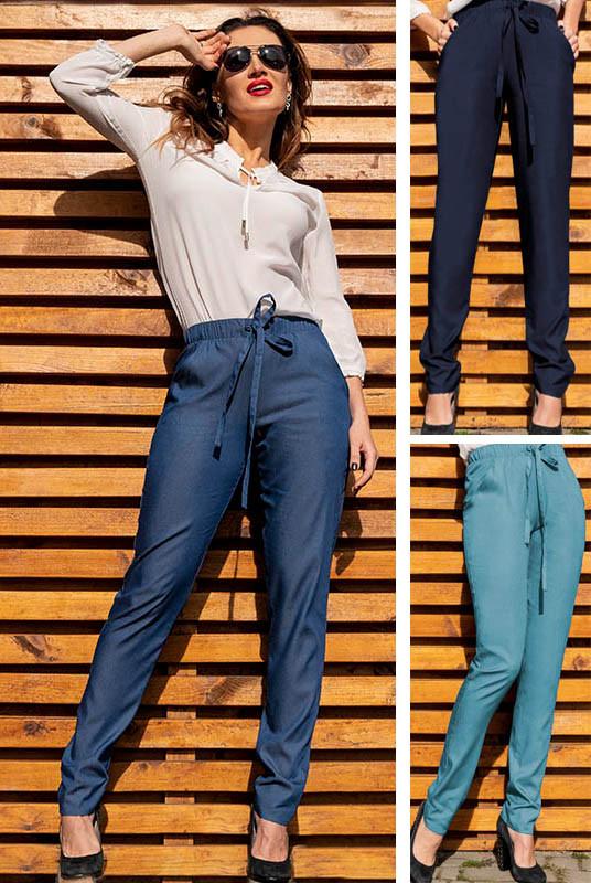 Джинсові легкі брюки Радмила