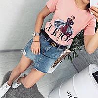 """Женская стильная футболка ГН539"""" Вог"""", фото 1"""