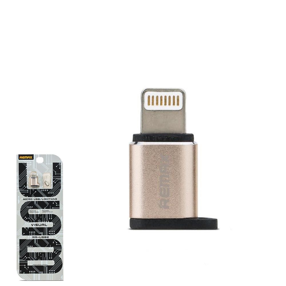 Перехідник Remax RA-USB2 з Lightning на Micro USB Gold