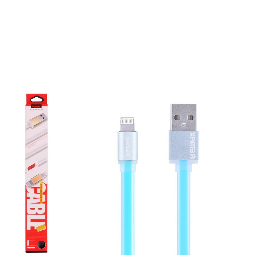 USB кабель Remax Colourful RC-005i Lightning 1m Blue