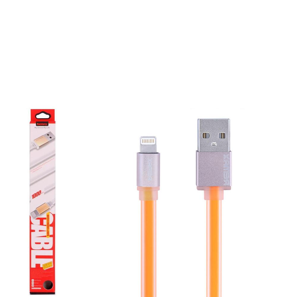 USB кабель Remax Colourful RC-005i Lightning 1m Orange