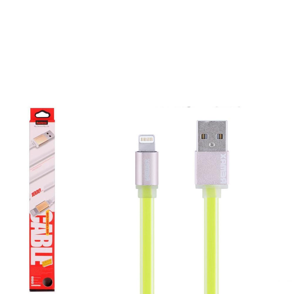 USB кабель Remax Colourful RC-005i Lightning 1m Green
