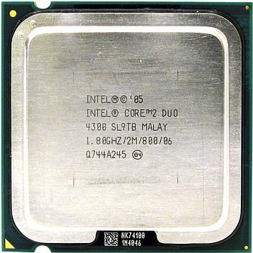 Процессор Intel Core 2 Duo E4300 1.80GHz/2M/800 (SL9TB) s775, tray