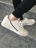 Чоловічі кросівки в стилі Adidas Continental 80 (Milk), Адідас Континеталь 80 (Репліка ААА), фото 3