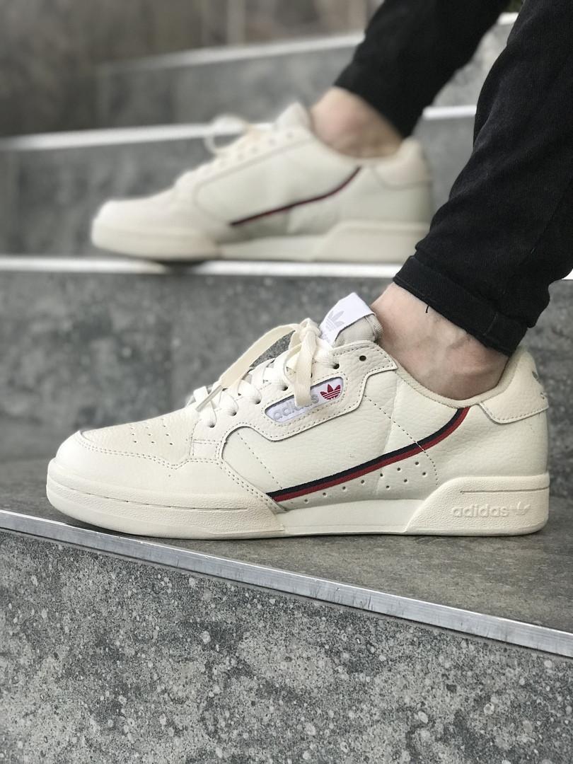 Чоловічі кросівки в стилі Adidas Continental 80 (Milk), Адідас Континеталь 80 (Репліка ААА)