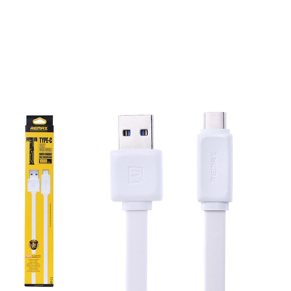 USB Data кабель Remax Fast Data RT-C1 Type-C 1m White