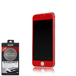 Защитное Стекло Remax Caesar Full Screen 3D Curved Screen Protector iPhone 7 Plus Red