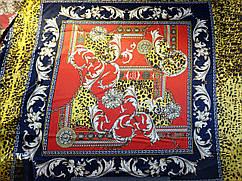 Атлас стрейчевый платок, красный