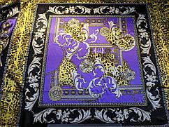 Атлас стрейчевый платок, фиолетовый
