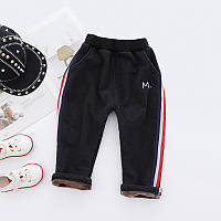 Спортивные зимние брюки в полоску утепленные плюшем 7446213-1, код (39829)