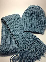 Шапка і шарф (70% шерсть)