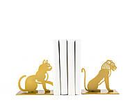Упоры для книг Лев и Кот