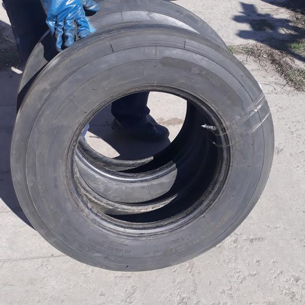 Шины б.у. 215.75.r17.5 Michelin X Line Мишлен. Резина бу для грузовиков и автобусов