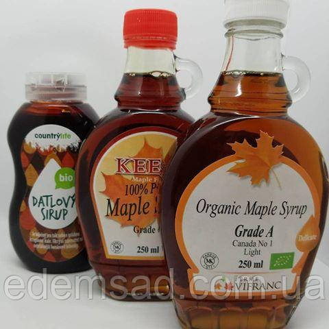 """Кленовий сироп натуральний органічний без цукру """"Keejo"""", клас А, 250мл"""
