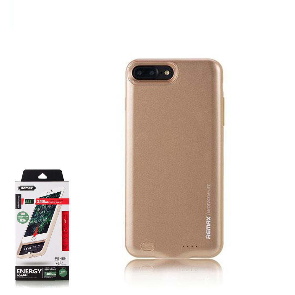 Портативное зарядное устройство (Energy Jacket) Remax Penen  iPhone 7 Plus 3400mAh Gold