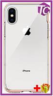 Чехол Spigen Case Neo Hybrid Crystal for iPhone X Blush Gold (057CS22173)
