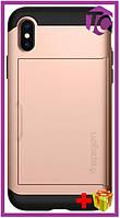 Чехол Spigen Case Slim Armor CS for iPhone X blush gold (057CS22157)