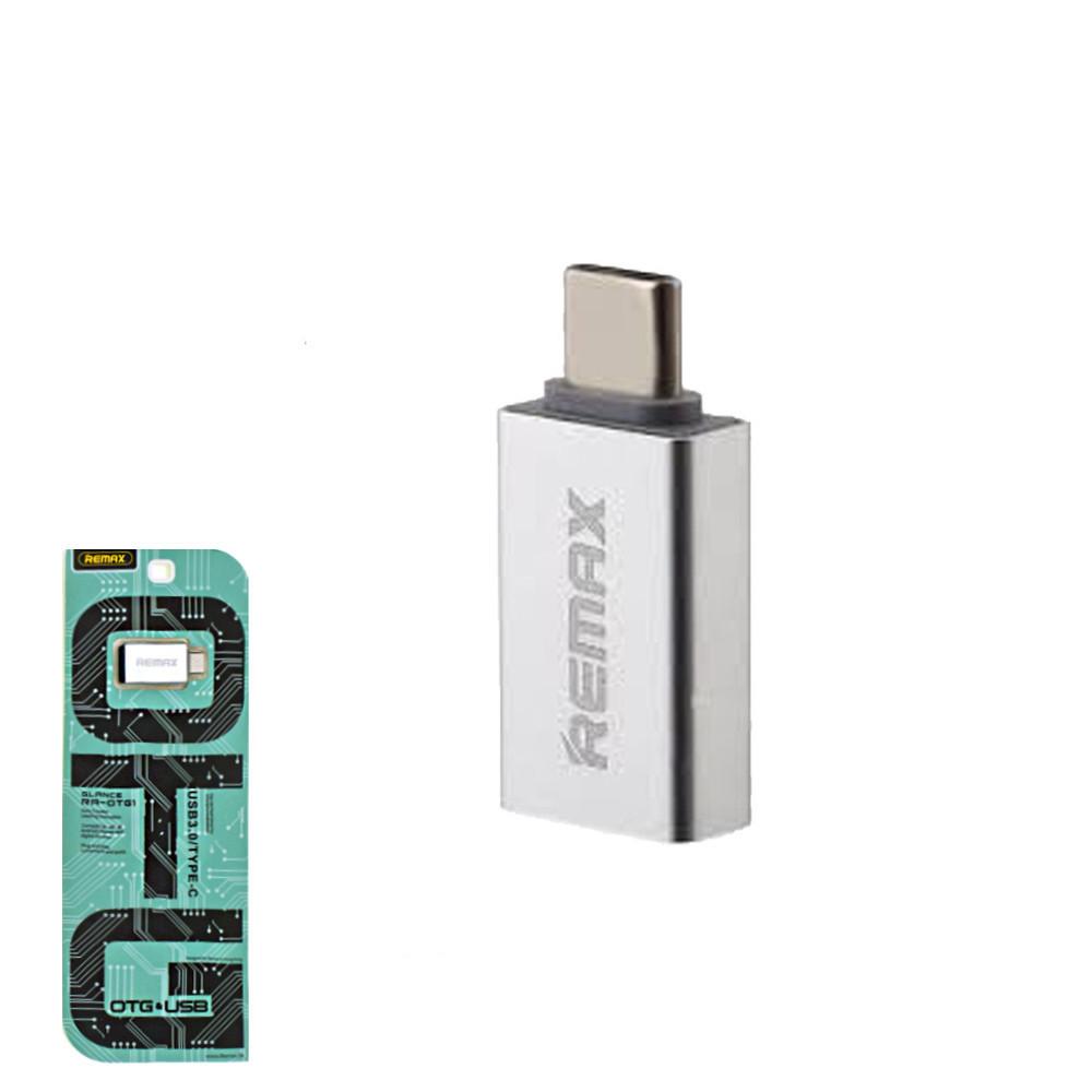 Переходник Remax RA-OTG1 c OTG USB на Type-С Silver