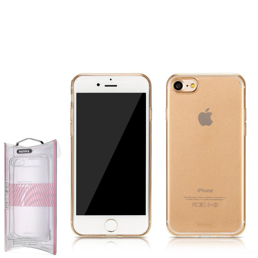 Чехол Remax Crystal iPhone 7 Plus Gold