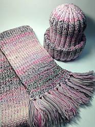 Шапка і шарф (50% шерсть)