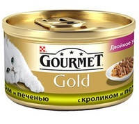 Gourmet Gold с кроликом и печенкой 85 гр