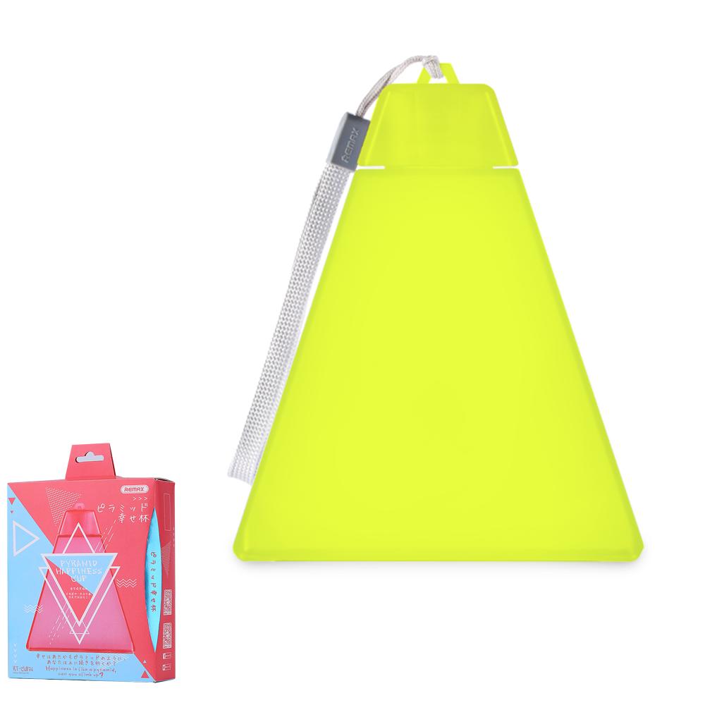 Пляшка для води Remax Pyramid Happinese Cup RT-CUP34 Yellow