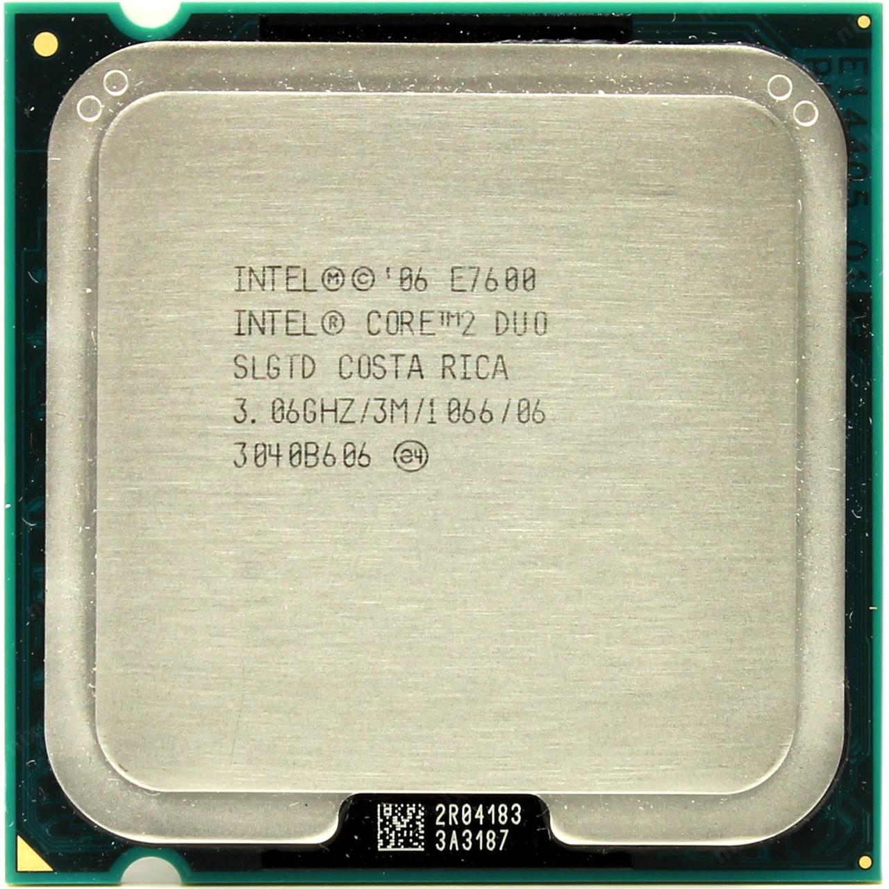 Процессор Intel Core 2 Duo E7600 3.06GHz/3M/1066 (SLGTD) s775, tray