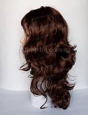 Парик карнавальный коричневый, волнистый (50 см), фото 3